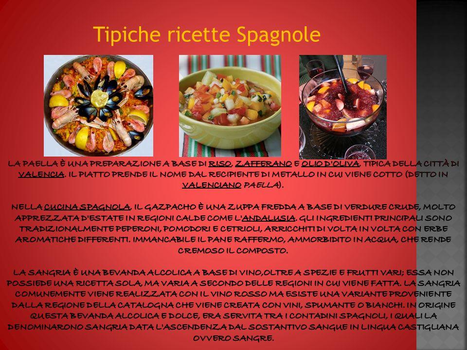 Tipiche ricette Spagnole