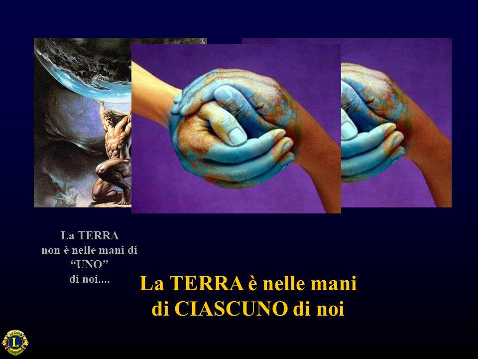 La TERRA non è nelle mani di UNO di noi.... La TERRA è nelle mani di CIASCUNO di noi