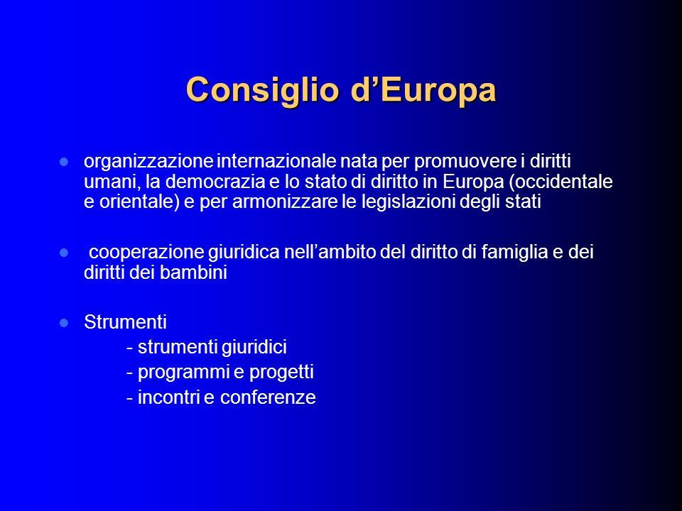 Consiglio dEuropa organizzazione internazionale nata per promuovere i diritti umani, la democrazia e lo stato di diritto in Europa (occidentale e orie