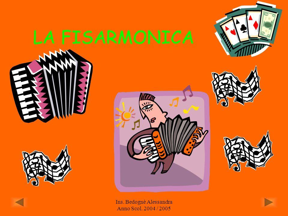 Ins. Bedognè Alessandra Anno Scol. 2004 / 2005 LA TASTIERA ELETTRONICA