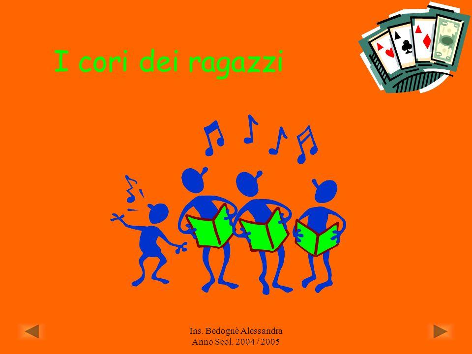 Ins. Bedognè Alessandra Anno Scol. 2004 / 2005 LE PERCUSSIONI