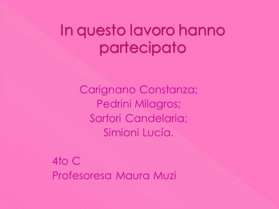 Carignano Constanza; Pedrini Milagros; Sartori Candelaria; Simioni Lucía.