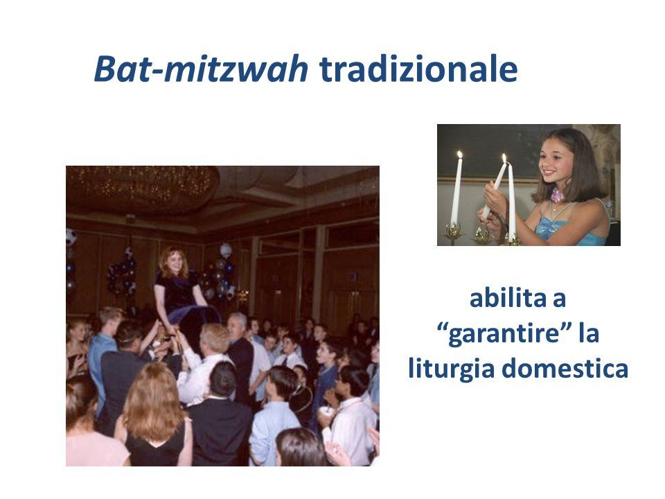 Bat-mitzwah tradizionale abilita a garantire la liturgia domestica