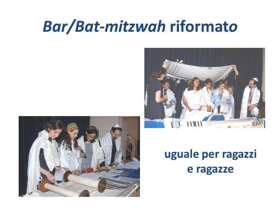 Bar/Bat-mitzwah riformato uguale per ragazzi e ragazze