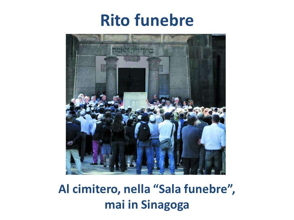 Rito funebre Al cimitero, nella Sala funebre, mai in Sinagoga