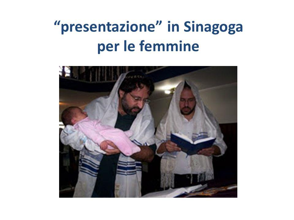 presentazione in Sinagoga per le femmine