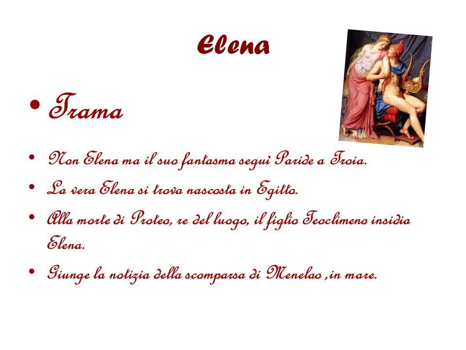 Elena Trama Non Elena ma il suo fantasma seguì Paride a Troia.