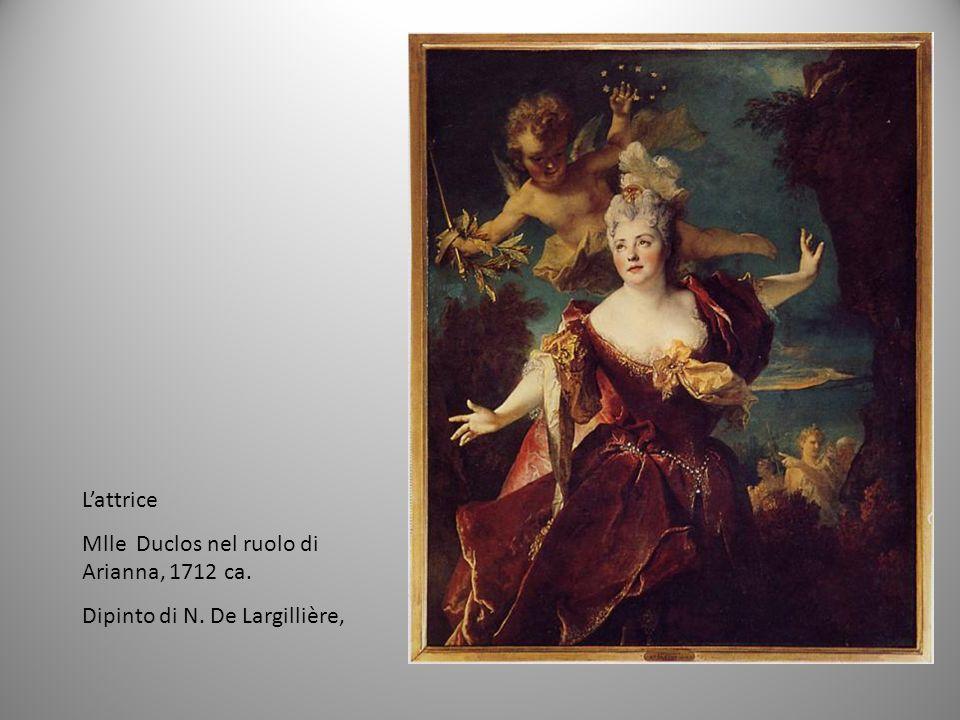 Lattrice Mlle Duclos nel ruolo di Arianna, 1712 ca. Dipinto di N. De Largillière,