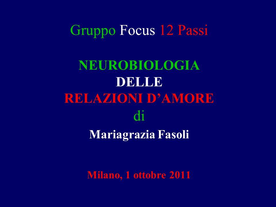 Gruppo Focus 12 Passi NEUROBIOLOGIA DELLE RELAZIONI DAMORE di Mariagrazia Fasoli Milano, 1 ottobre 2011