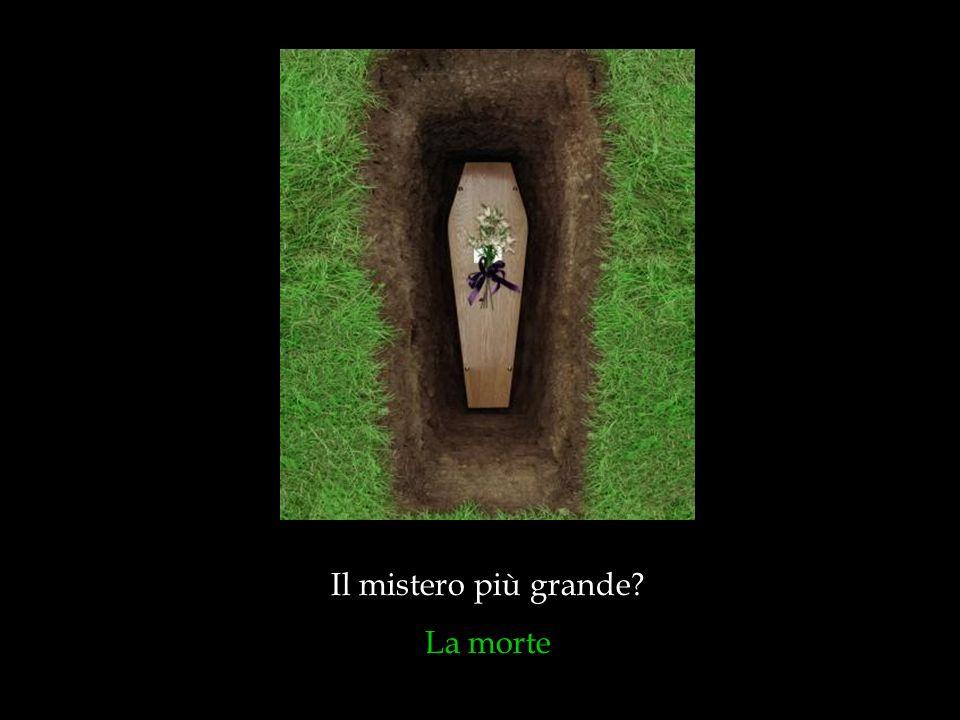 Il mistero più grande? La morte