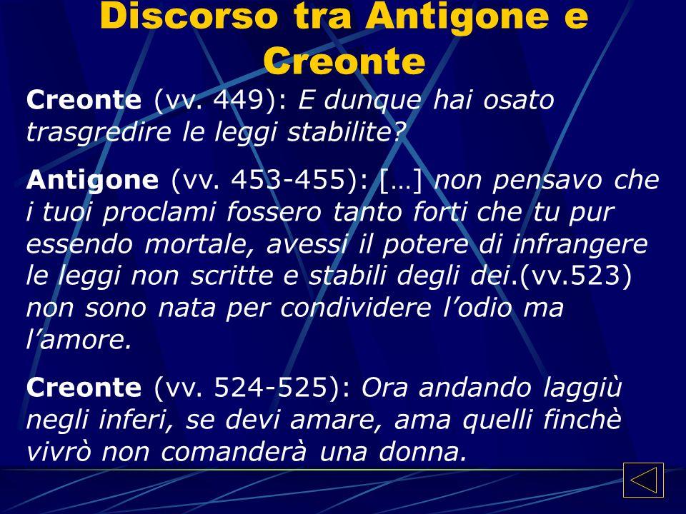 Discorso tra Antigone e Creonte Creonte (vv.