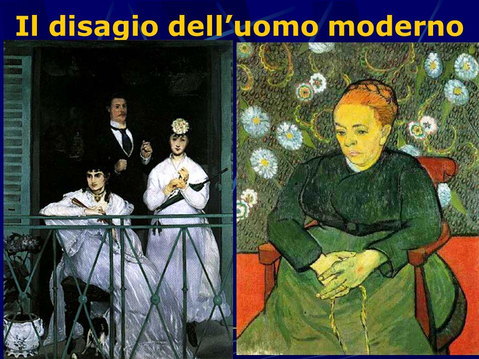 Il disagio delluomo moderno Van Gogh Il ritratto di Madame Roulin Manet Il balcone Lo sguardo assente delle due donne rappresenta la sete di infinito che ne provoca il dissidio interiore