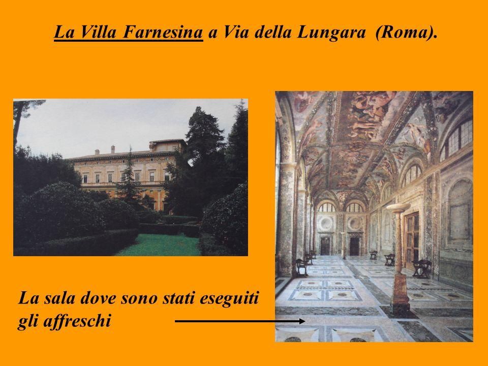 La Villa Farnesina a Via della Lungara (Roma). La sala dove sono stati eseguiti gli affreschi