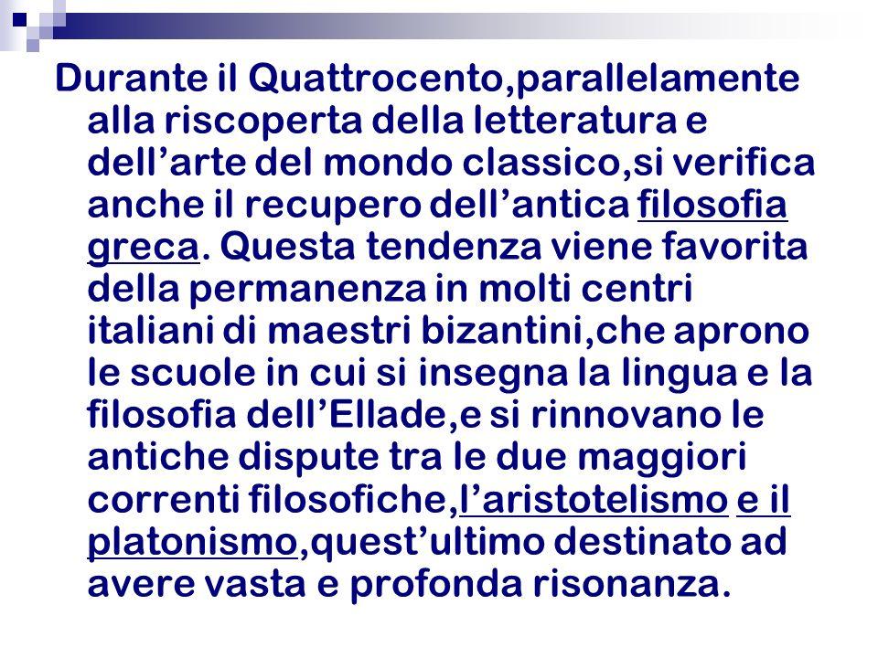 Il Platonismo Il Platonismo,scuola di pensiero che si rifà allopera e ai metodi di Platone porta a una visione positiva del processo conoscitivo.