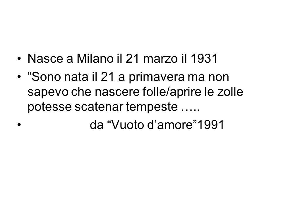 Nel 53 sposa Ettore Carniti,proprietario di alcune panetterie a Milano.
