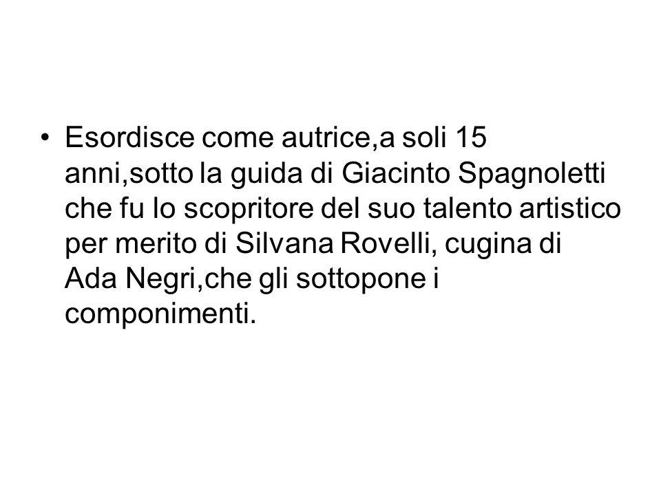 Nel 47 la Merini inizia a frequentare la casa di Spagnoletti dove conosce,fra gli altri Giorgio Manganelli,che fu un vero maestro di stile per lei oltre che il suo primo grande amore.