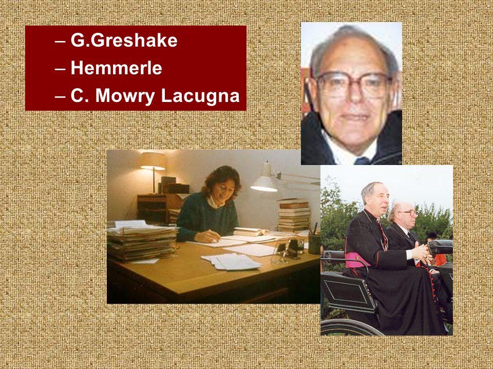 –G.Greshake –Hemmerle –C. Mowry Lacugna