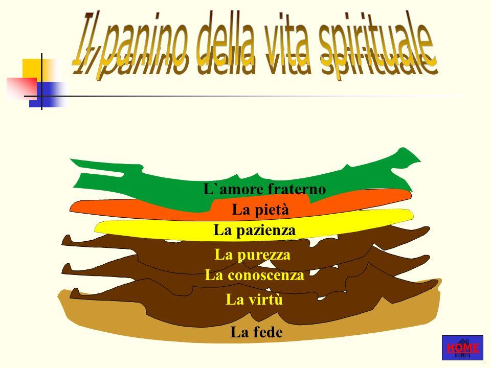 HOME La fede La virtù La conoscenza La purezza La pazienza La pietà L`amore fraterno