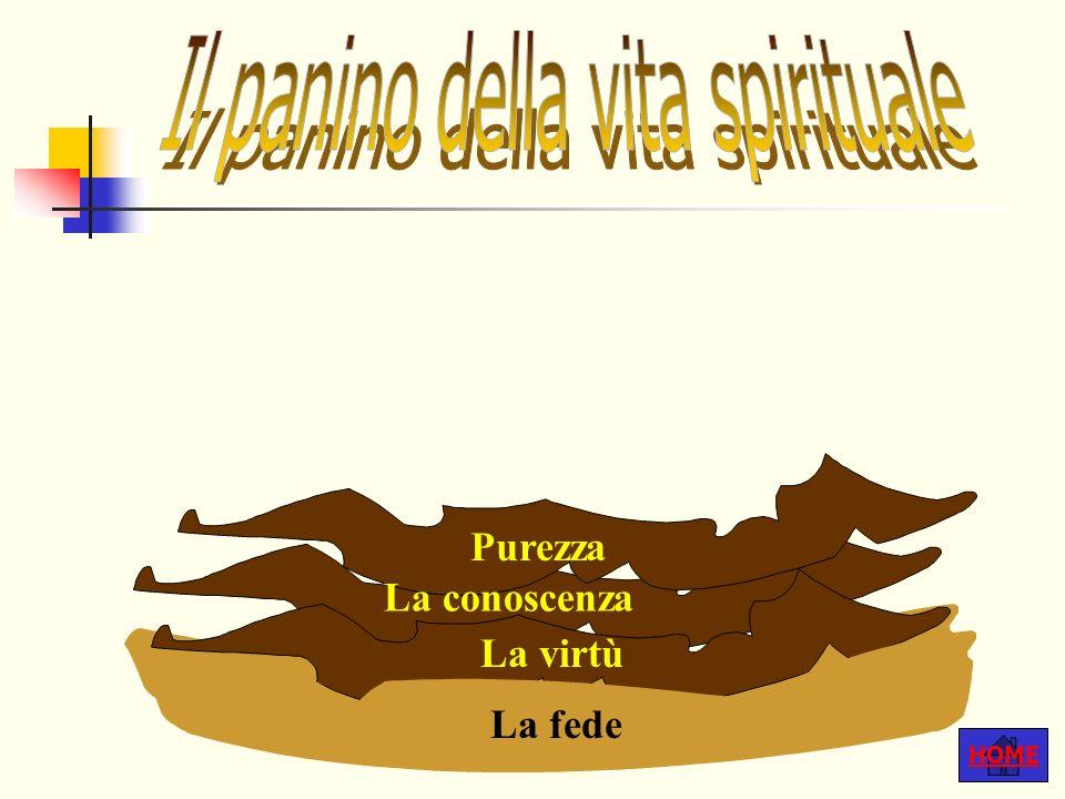 HOME Purezza La fede La virtù La conoscenza