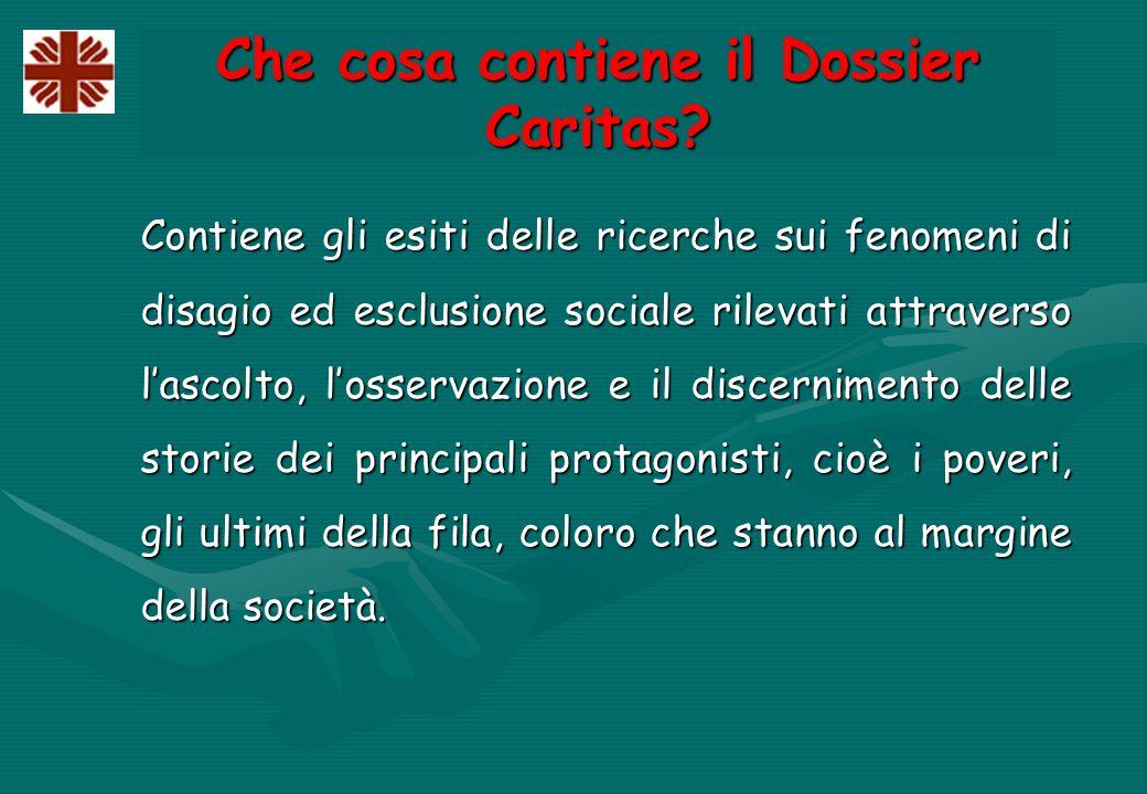 Che cosa contiene il Dossier Caritas.