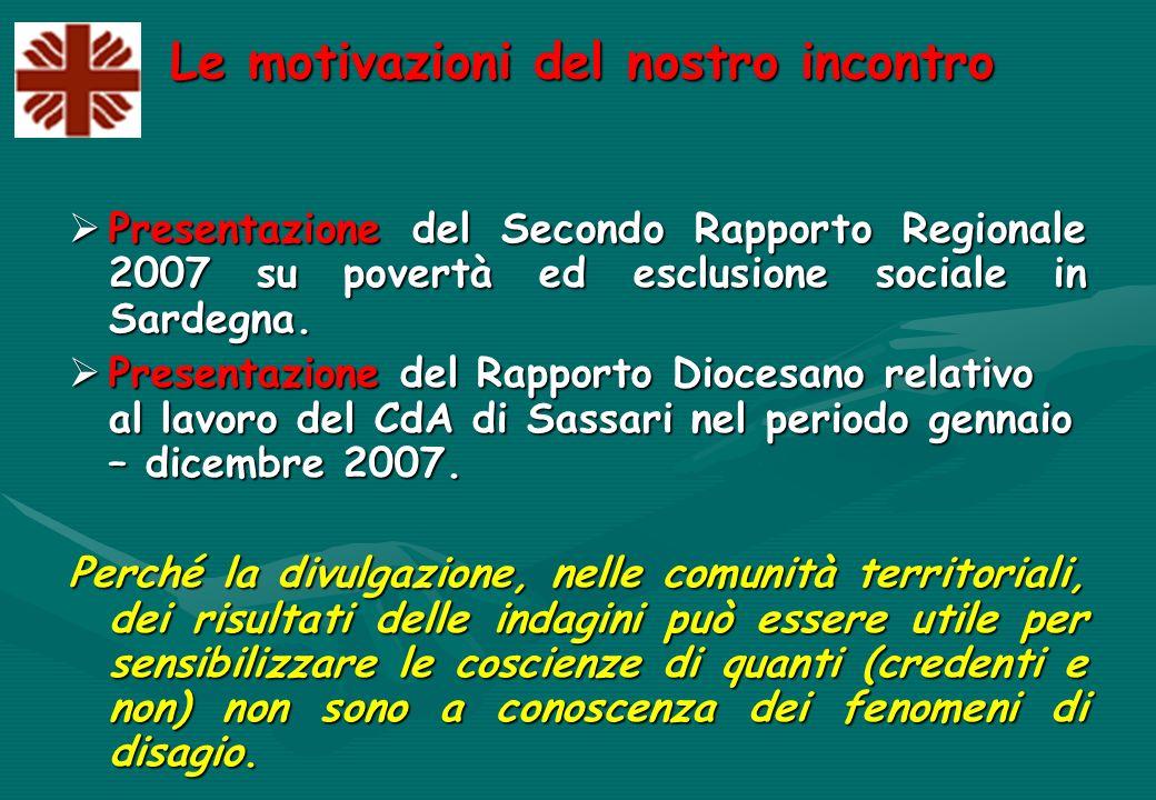 I dati del Centro di ascolto diocesano di Sassari ( Periodo Gennaio - Dicembre 2007) La condizione professionale