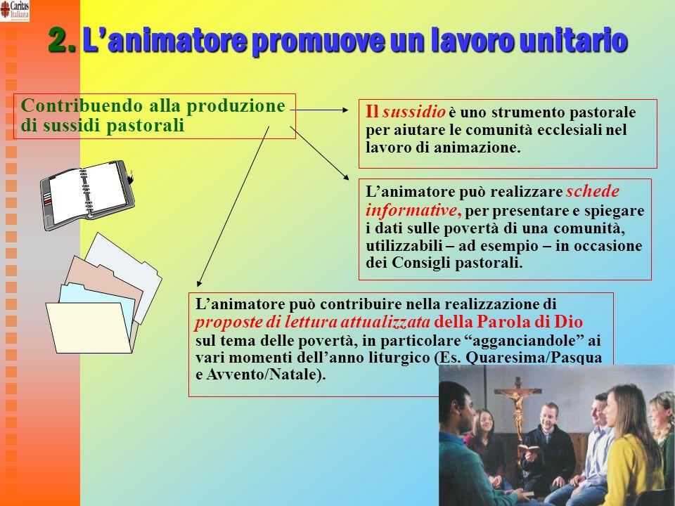 31 2. Lanimatore promuove un lavoro unitario Contribuendo alla produzione di sussidi pastorali Il sussidio è uno strumento pastorale per aiutare le co