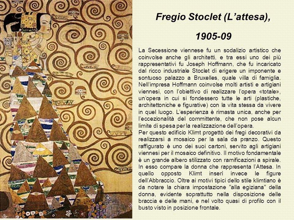Fregio Stoclet (Lattesa), 1905-09 La Secessione viennese fu un sodalizio artistico che coinvolse anche gli architetti, e tra essi uno dei più rapprese