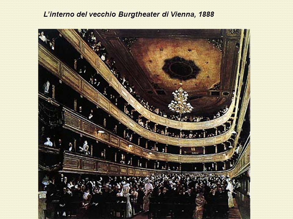 Linterno del vecchio Burgtheater di Vienna, 1888