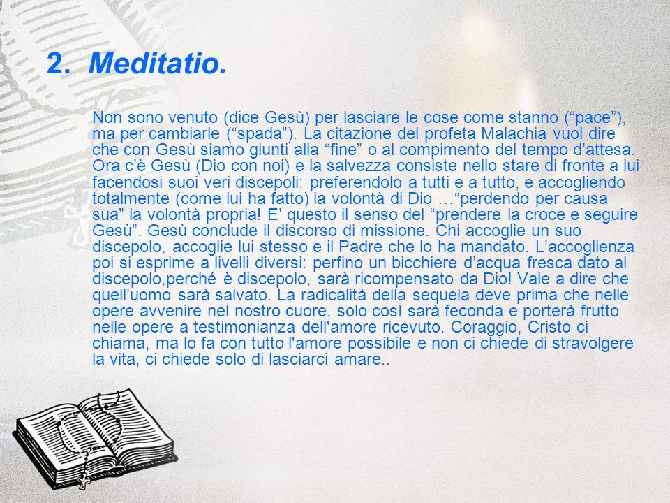 3.Oratio.