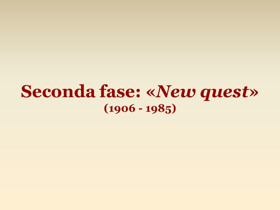 Seconda fase: «New quest» (1906 - 1985)