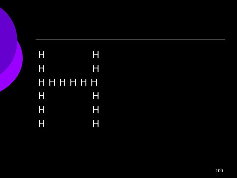 100 H H H H H
