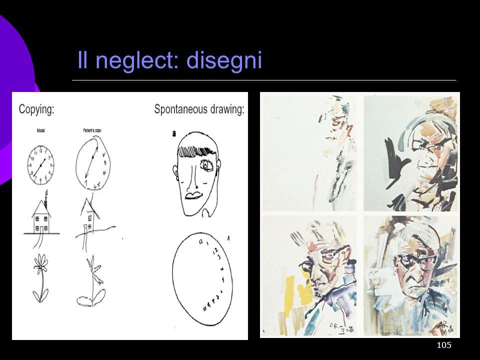 105 Il neglect: disegni