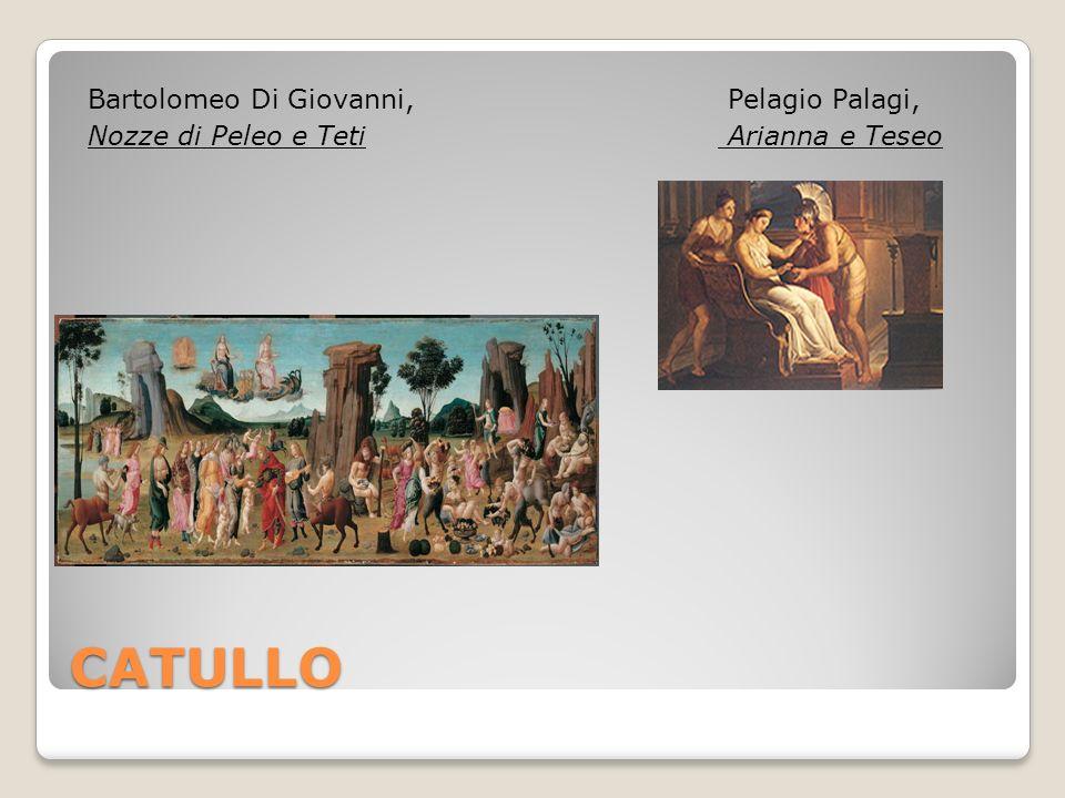 CATULLO Bartolomeo Di Giovanni, Nozze di Peleo e Teti Pelagio Palagi, Arianna e Teseo