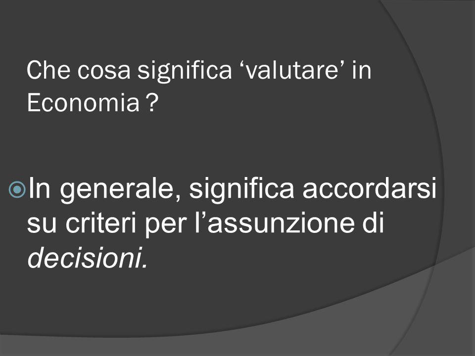 … ma cosa centra il valore ?