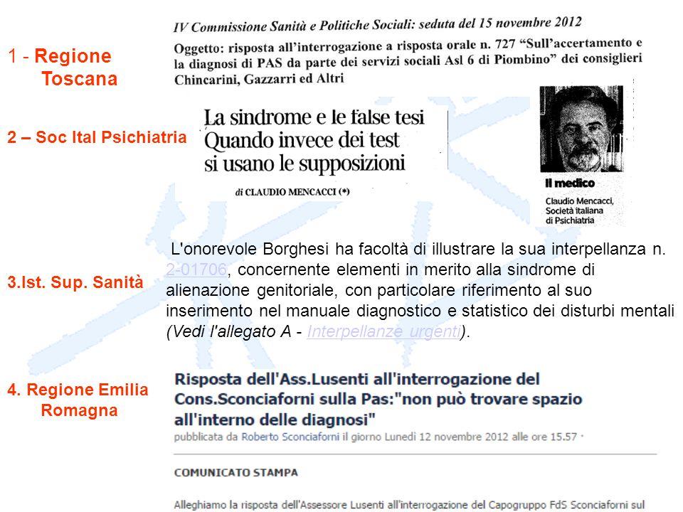 L'onorevole Borghesi ha facoltà di illustrare la sua interpellanza n. 2-01706, concernente elementi in merito alla sindrome di alienazione genitoriale