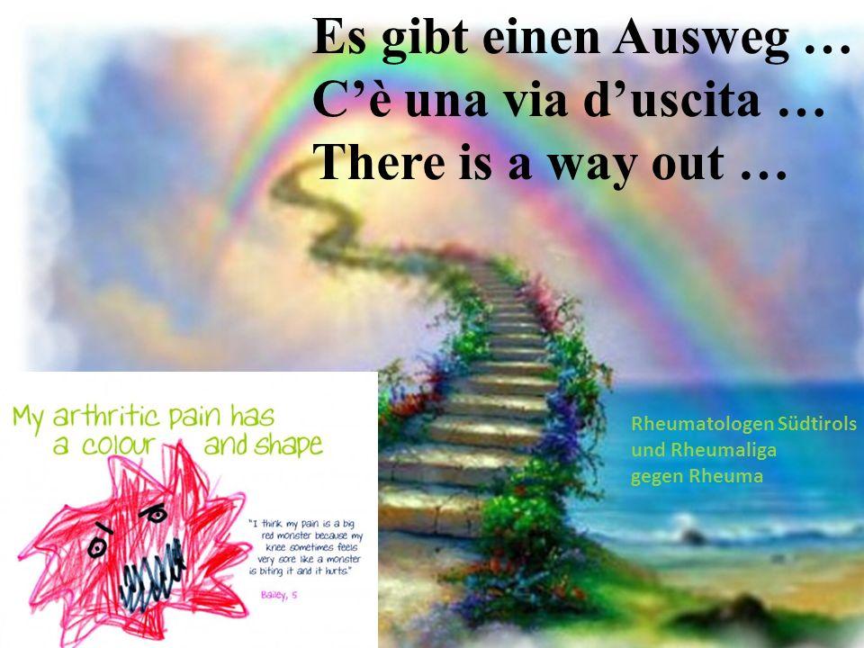 Es gibt einen Ausweg … Cè una via duscita … There is a way out … Rheumatologen Südtirols und Rheumaliga gegen Rheuma