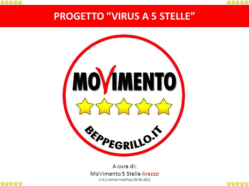 PROGETTO VIRUS A 5 STELLE A cura di: MoVimento 5 Stelle Arezzo V 0.2 ultima modifica: 29-05-2012