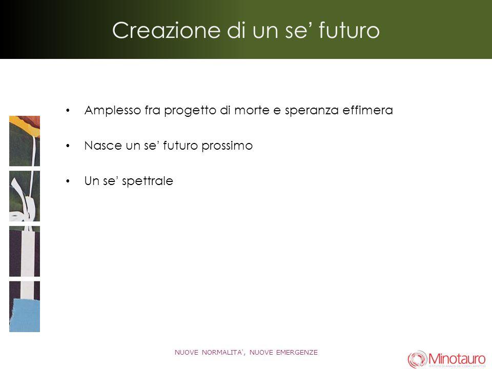 Creazione di un se futuro Amplesso fra progetto di morte e speranza effimera Nasce un se futuro prossimo Un se spettrale NUOVE NORMALITA, NUOVE EMERGENZE