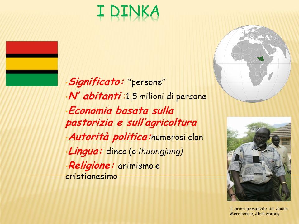 I Dinka sono una dei gruppi etnici più importanti e conosciuti dellAfrica.