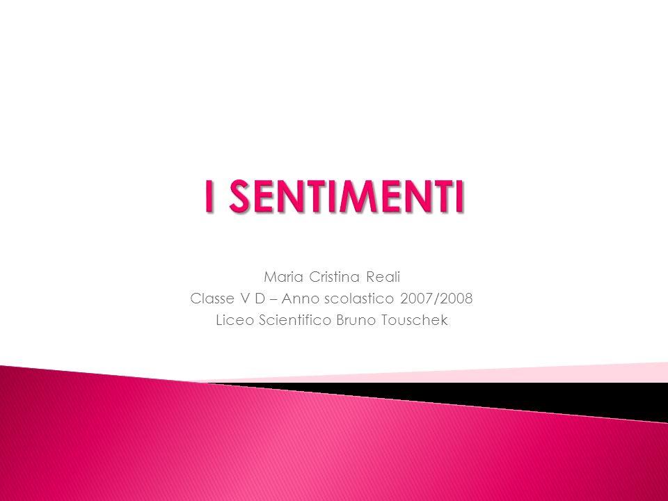 Maria Cristina Reali Classe V D – Anno scolastico 2007/2008 Liceo Scientifico Bruno Touschek