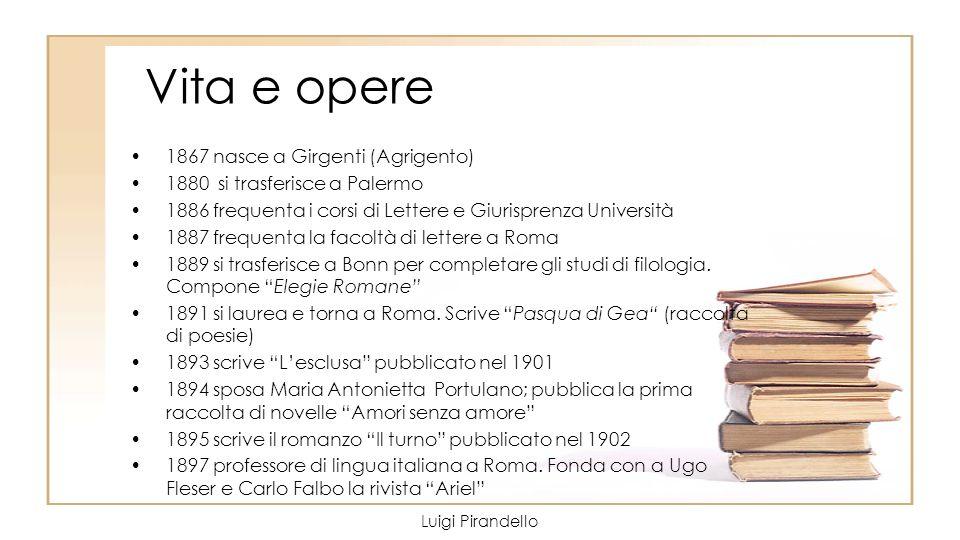 Vita e opere 1867 nasce a Girgenti (Agrigento) 1880 si trasferisce a Palermo 1886 frequenta i corsi di Lettere e Giurisprenza Università 1887 frequent