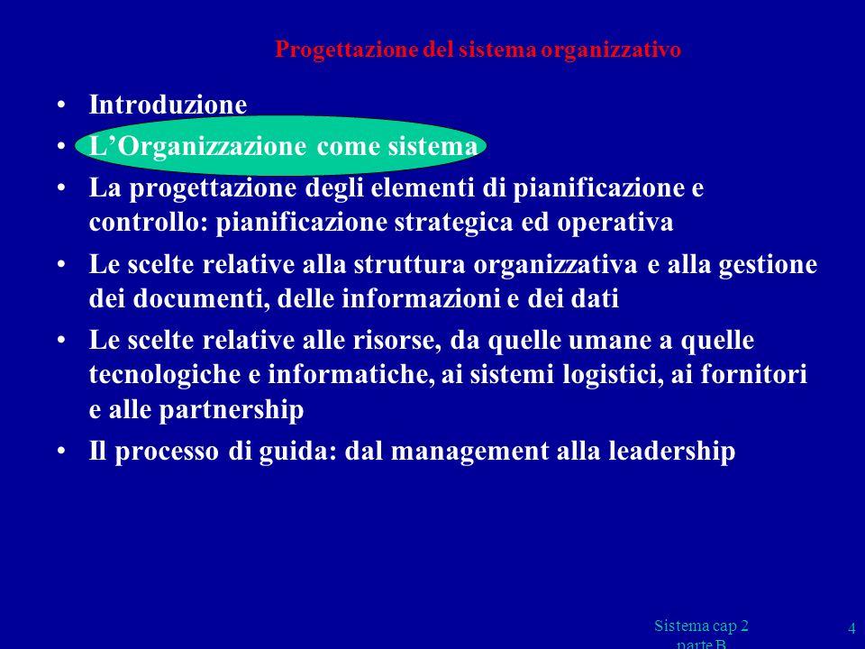 Sistema cap 2 parte B 65 LEADERSHIP - SOTTOCRITERIO 1B Le aree da esaminare devono evidenziare, per esempio, come i leaders: l adeguano la struttura dellorganizzazione per consentire la realizzazione delle sue politiche e strategie; l si assicurano che venga definito ed attuato il sistema di governo dei processi; l si assicurano che venga definito ed attuato il processo di sviluppo, diffusione e aggiornamento delle politiche e strategie; l si assicurano che venga definito ed attuato il processo per la misura, la revisione e il miglioramento dei risultati chiave; l si assicurano che venga definito ed attuato il processo - o insieme di processi - atto a promuovere, individuare, pianificare e porre in atto miglioramenti agli approcci (incoraggiando per esempio la creatività, linnovazione e lattività di apprendimento).