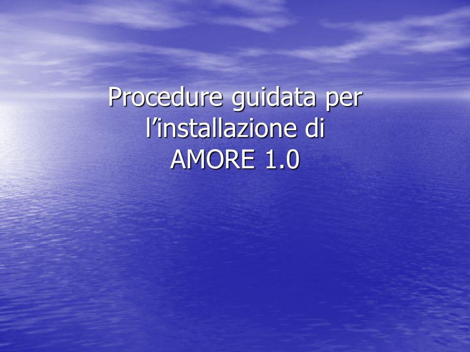Procedure guidata per linstallazione di AMORE 1.0