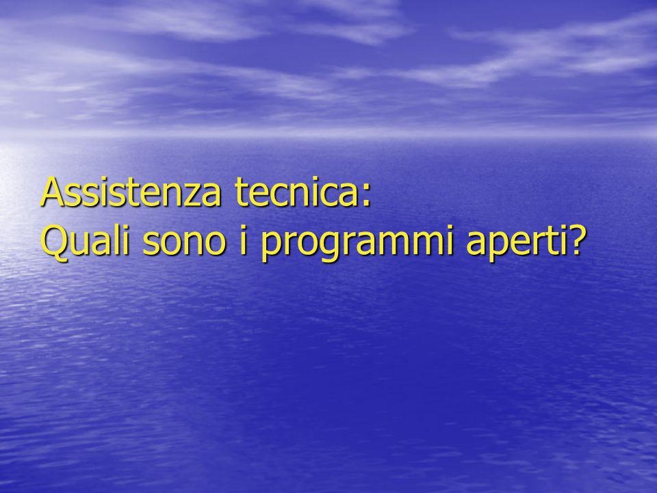 Assistenza tecnica: Quali sono i programmi aperti?