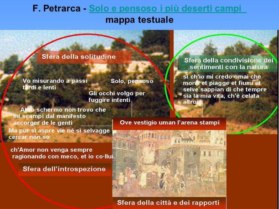 F. Petrarca - Solo e pensoso i più deserti campi mappa testualeSolo e pensoso i più deserti campi