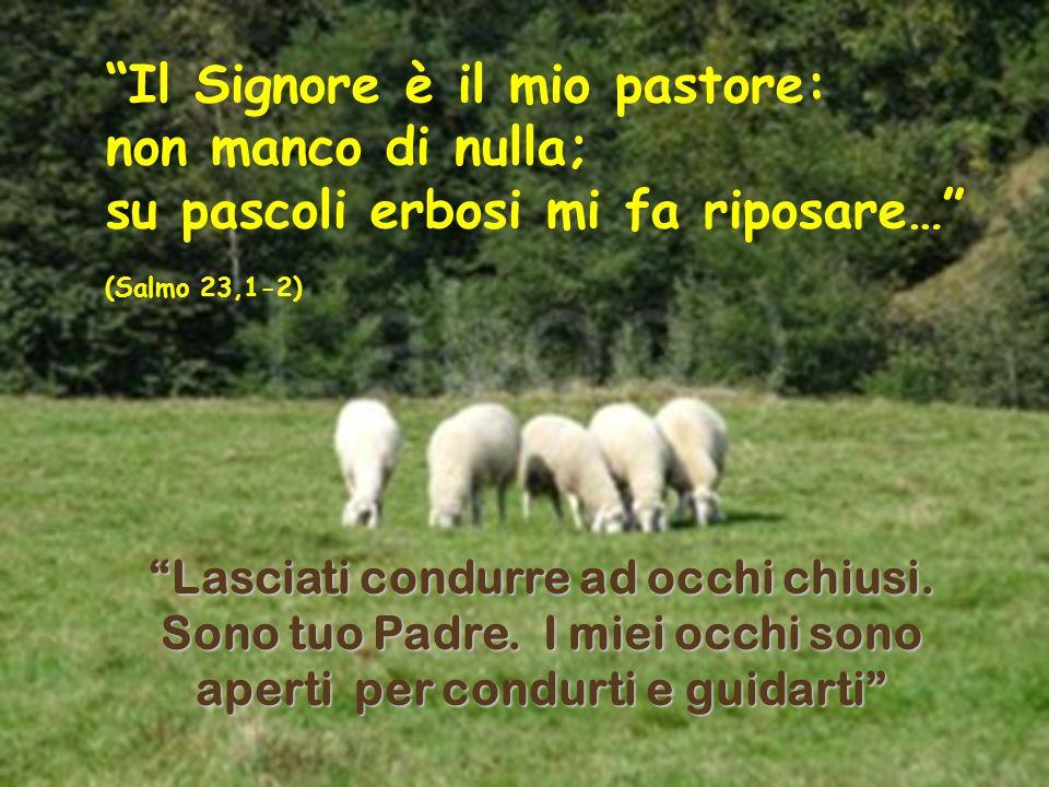 Il Signore è il mio pastore: non manco di nulla; su pascoli erbosi mi fa riposare… (Salmo 23,1-2) Lasciati condurre ad occhi chiusi.