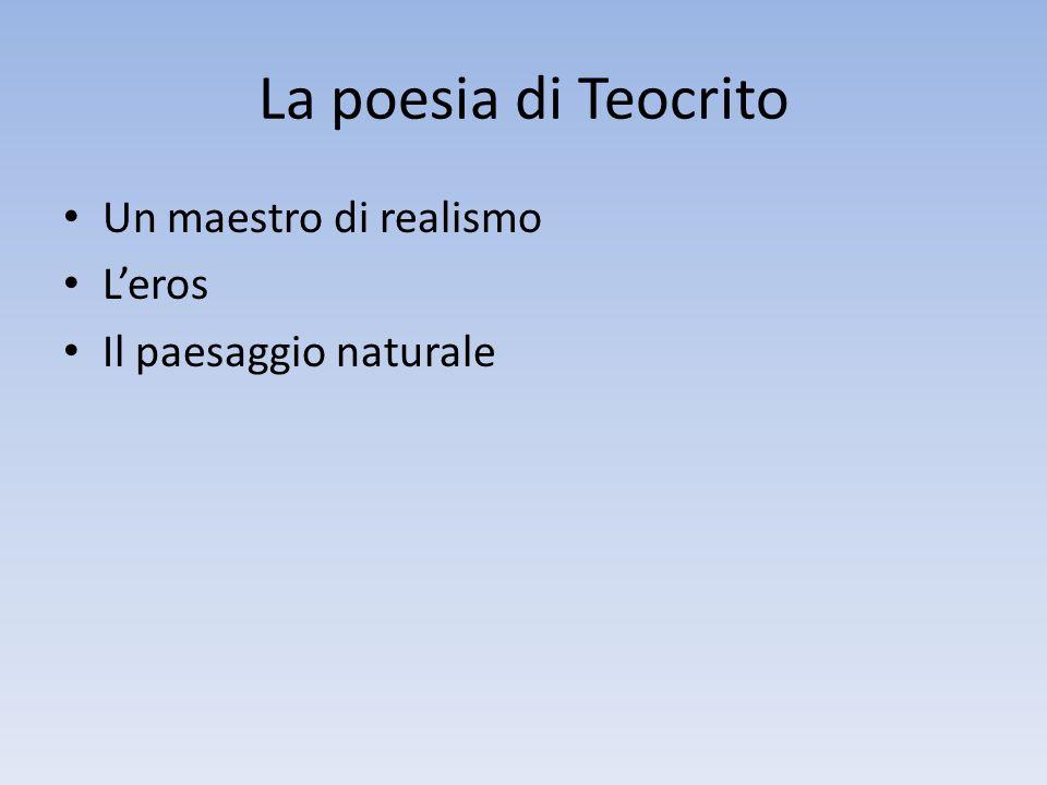 La poesia di Teocrito Un maestro di realismo Leros Il paesaggio naturale