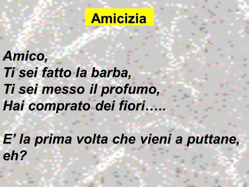 Come… Come… Come Beatrice per Dante, come Laura per Petrarca, come Silvia per Leopardi, così tu sei per me amore…..