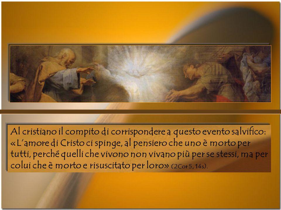 Nella sintesi spaziale dellopera redentiva che Paolo ha tracciato nella lettera ai Filippesi, croce e risurrezione rappresentano il punto più illumina