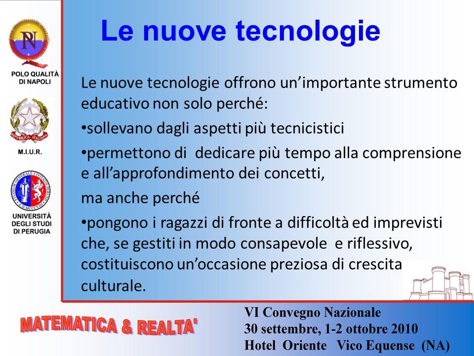 Le nuove tecnologie Le nuove tecnologie offrono unimportante strumento educativo non solo perché: sollevano dagli aspetti più tecnicistici permettono